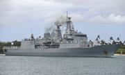 Dàn khí tài trên chiến hạm New Zealand đang ở thăm Việt Nam