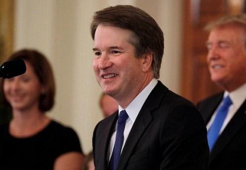 Ứng viên Thẩm phán Tòa án Tối cao Mỹ Brett Kavanaugh phát biểu tại Nhà Trắng hồi tháng 7/2018. Ảnh: Reuters.