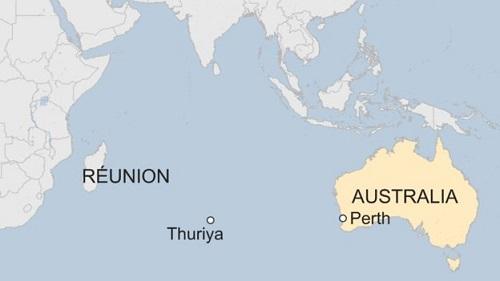 Vị trí con thuyền Thuriya. Ảnh: BBC.