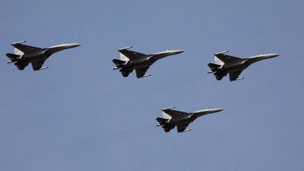 Các tiêm kích Su-35S trong biên chế không quân Trung Quốc. Ảnh: Weibo.