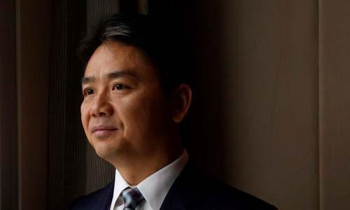 Lưu Cường Đông, nhà sáng lập kiêm CEO của JD.com, trong một cuộc phỏng vấn tại Hong Kong, Trung Quốc