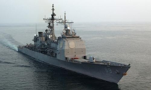Tàu tuần dương Vicksburg thuộc lớp Ticonderoga. Ảnh: US Navy.