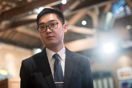 Người sáng lập đảng Quốc gia Hong KongAndy Trần Hạo Thiên. Ảnh: Bloomberg.