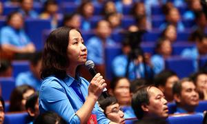 Lãnh đạo Chính phủ đối thoại với đoàn viên công đoàn