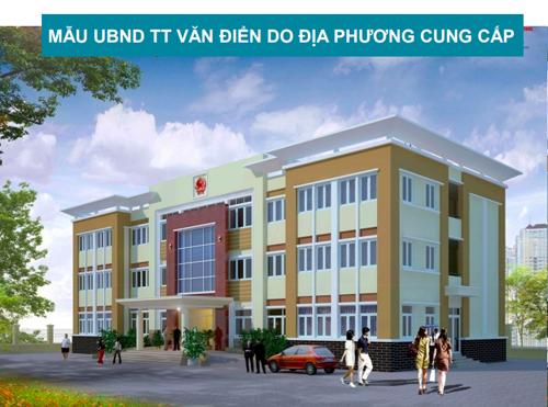 Mẫu trụ sở UBND thị trấn Văn Điển cung cấp cho đơn vị tư vấn. Nguồn: HRAP.