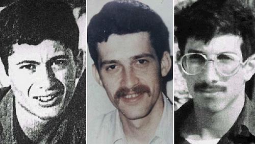 Ba binh sĩ Israel mất tích tại Syria từ năm 1982, gồm Feldman (trái), Katz (giữa) và Baumel. Ảnh: IDF.