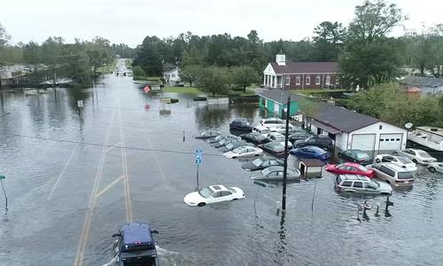 Khu vực Wilmington bị ngập nặng sau bão Florence. Ảnh: ABC News.