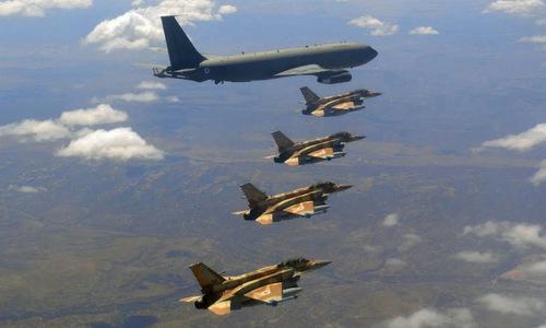 Biên đội máy bay Israel huấn luyện hồi năm 2017. Ảnh: IAF.