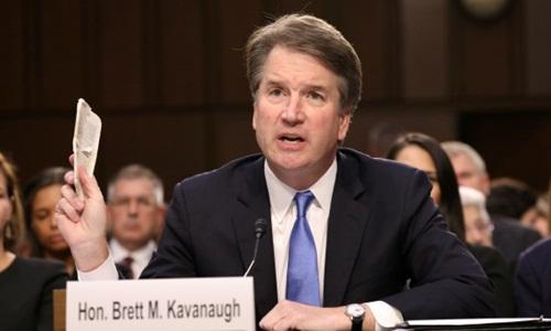 Brett Kavanaugh trong phiên điều trần trước Ủy ban Tư pháp Thượng viện Mỹ hồi đầu tháng. Ảnh: Reuters.