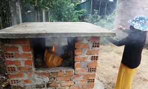 Lò đốt rác tại nhà của người dân miền quê Quảng Ngãi