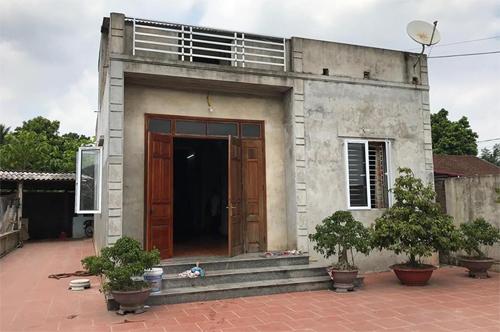 Ngôi nhà có ba người bị đoạt mạng tại Thái Nguyên. Ảnh: Phạm Dự