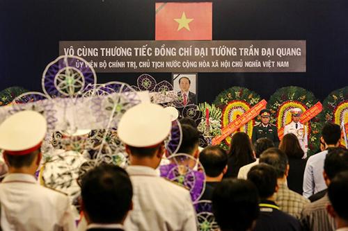 Lễ viếng linh cữuChủ tịch nước Trần Đại Quang tạiNhà Tang lễ Quốc gia sáng nay. Ảnh: AFP