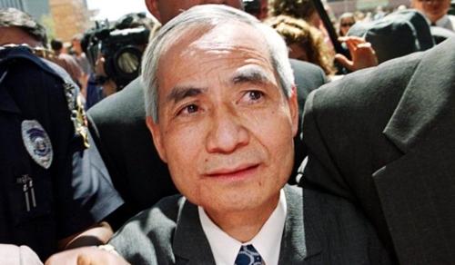 Wen Ho Lee tại Mỹ vàotháng 9/2000. Ảnh: AFP.