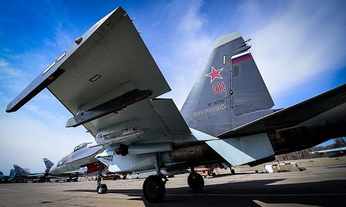 Một tiêm kích Su-35 của Nga. Ảnh: TASS.