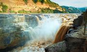 Thác nước lớn nhất trên sông Hoàng Hà tuôn đổ sau mưa lớn