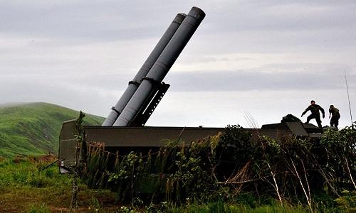 Một hệ thống tên lửa Bastion của Nga. Ảnh: Sputnik.