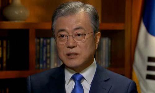 Tổng thống Hàn Quốc Moon Jae-in trong cuộc phỏng vấn hôm qua tại Mỹ. Ảnh: Fox News.