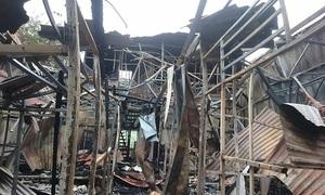 Công an điều tra vụ cháy gần Bệnh viện Nhi làm hai người chết