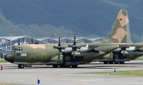 Vận tải cơ C-130 trong biên chế lực lượng vũ trang Đài Loan. Ảnh: AFP.