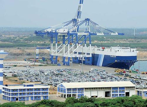Cảng chiến lược Hambantota của Sri Lanka. Ảnh: AFP.