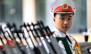 Hàng trăm cảnh sát bảo vệ lễ tang Chủ tịch nước Trần Đại Quang