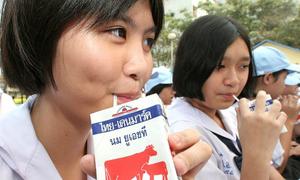 Chương trình sữa học đường ở Thái Lan áp dụng từ năm 1992