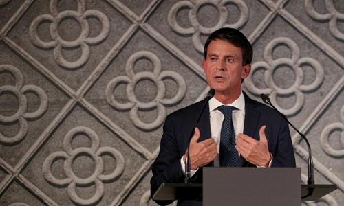 Cựu thủ tướng Pháp Manuel Valls thông báo quyết định tranh cử thị trưởng Barcelona ngày 25/9. Ảnh: Reuters.
