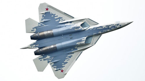 Một tiêm kích tàng hình Su-57 của Nga. Ảnh: Sputnik.