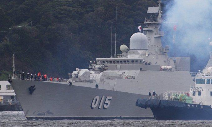 Hoạt động của tàu hộ vệ Việt Nam trong lần đầu thăm quân cảng Nhật