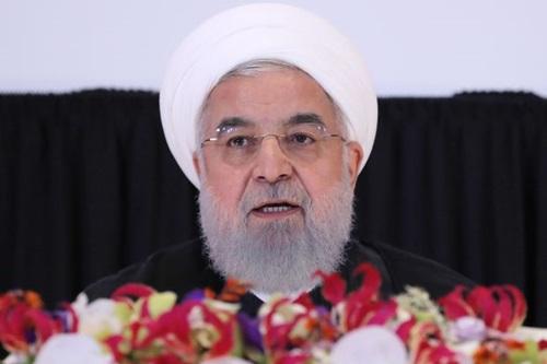 Tổng thống Iran Hassan Rouhani phát biểu tại một cuộc họp báo bên lề kỳ họp của Đại hội đồng Liên Hợp Quốc tại New York, Mỹ hôm 26/9. Ảnh: Reuters.