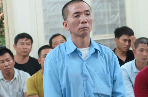 Bị cáo Cường tại tòa sơ thẩm.