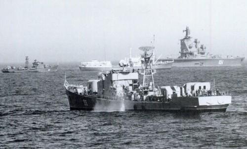 Tàu chiến Liên Xô trên Địa Trung Hải đầu năm 1973. Ảnh: Wikipedia.