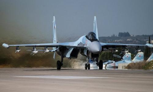 Một tiêm kích Su-35 của Nga hoạt động tại Syria. Ảnh: Sputnik.