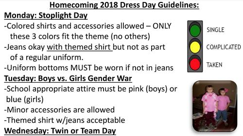 Hướng dẫn chọn trang phục cho sự kiện ở trường học Mỹ bị phụ huynh phản đối. Ảnh: Twitter