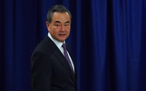 Ngoại trưởng Trung Quốc sau cuộc họp Hội đồng Bảo an Liên Hợp Quốc hôm 27/9. Ảnh: AFP.