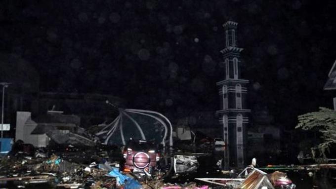 Thành phố Indonesia tan hoang sau thảm họa sóng thần