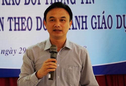 Chánh Văn phòng Bộ giáo dục và Đào tạo Nguyễn Viết Lộc. Ảnh: Mạnh Tùng.