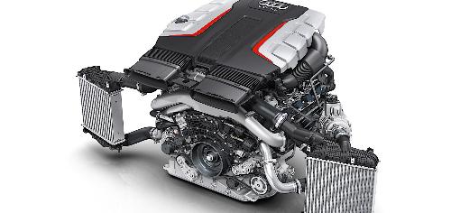 Mô hình sử dụng 3 tua-bin tăng áp trên động cơ Audi SQ7.