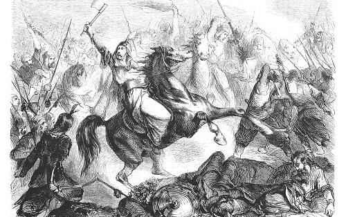 Tranh minh họa trận đánh giữa Nga và Mông Cổ bên sông Kalka. Ảnh: RBTH.