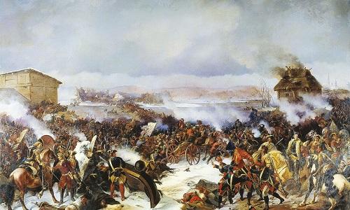 Tranh minh họa trận Narva giữa Nga và Thụy Điển. Ảnh: RBTH.