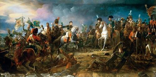 Tranh minh họa trận Austerlitz. Ảnh: RBTH.
