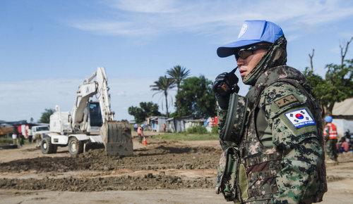 Lính gìn giữ hòa bình của Hàn Quốc trong giám sát tại Nam Sudan. Ảnh: UNMISS.