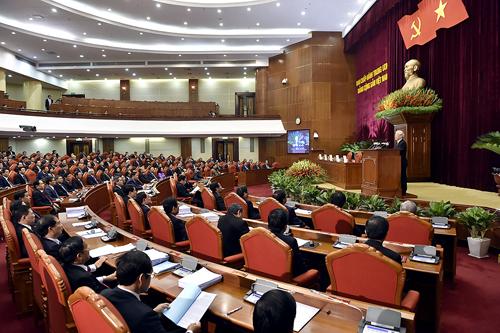 Hội nghị Trung ương 8 đang diễn ra tại Hà Nội. Ảnh: VGP.