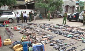 Nghệ An tiêu hủy hàng trăm khẩu súng