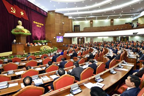 Hội nghị Trung ương 8, khóa XII họp từ ngày 2 đến 6/10. Ảnh: TTX