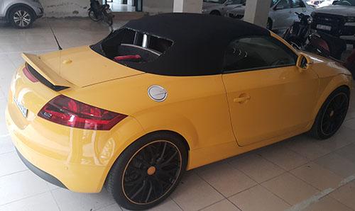 Chiếc Audi mà Sơn dùng kiếm chém.