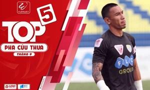 Top 5 pha cứu thua vòng 25 V-League 2018