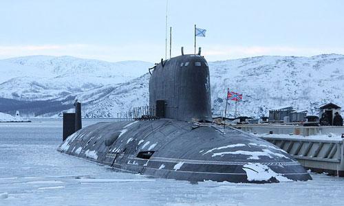 Tàu ngầm Severodvinsk thuộc lớp Yasen của hải quân Nga. Ảnh: RBTH.