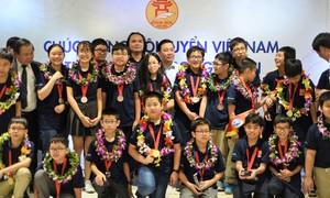 23 học sinh thi Toán và Khoa học quốc tế đều giành huy chương