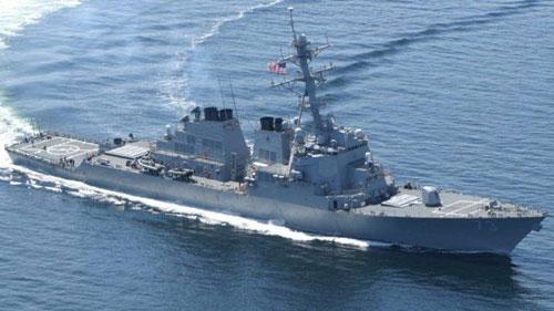 Tàu khu trục mang tên lửa dẫn đường USS Decatur của hải quân Mỹ. Ảnh: US Navy.